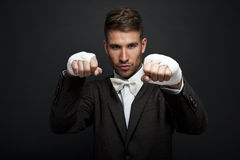 Handsome businessman boxer Royalty Free Stock Photo