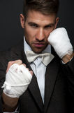 Handsome businessman boxer Stock Photography