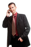 Handsome businessman calling by phone Stock Photo