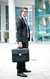 Handsome businessman in the city Royalty Free Stock Image