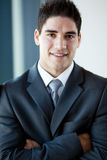 Handsome businessman closeup Stock Images