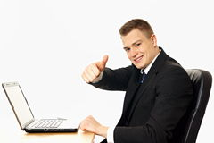 Handsome businessman royalty free stock photography