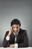 Handsome businessman  and copy space above head Royalty Free Stock Photo