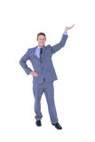 Handsome businessman gesturing with hands Stock Photo