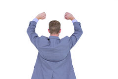 Handsome businessman gesturing with hands Royalty Free Stock Image