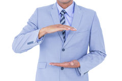Handsome businessman gesturing with hands Royalty Free Stock Photo
