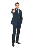 Handsome businessman give thumbs Royalty Free Stock Photos