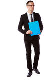 Handsome businessman in glasses Stock Images