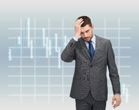 Handsome businessman having headache Royalty Free Stock Images
