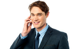 Handsome businessman having phone call Royalty Free Stock Images