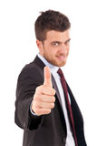 Handsome businessman having success Royalty Free Stock Photo