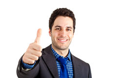 Handsome businessman having success Stock Photos