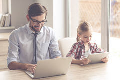 Handsome businessman and his daughter Royalty Free Stock Image