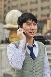Handsome businessman with his mobile phone Stock Images