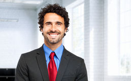 Handsome businessman in his office Stock Images