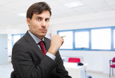 Handsome businessman in his office Royalty Free Stock Image