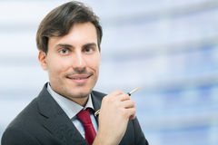 Handsome businessman in his office Royalty Free Stock Photography