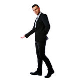 Handsome businessman hold hand Royalty Free Stock Images