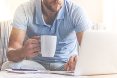 Handsome businessman at home Stock Photography