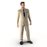 Handsome businessman. Isolated over white 3D Illustration. Handsome businessman. Isolated over white background 3D Illustration Royalty Free Stock Image