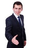 Handsome businessman isolated Royalty Free Stock Images