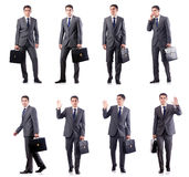 The handsome businessman isolated on white Stock Images