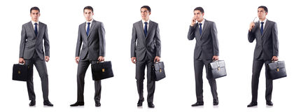 The handsome businessman isolated on white Royalty Free Stock Images