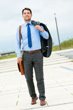 Handsome businessman or manager going home Royalty Free Stock Photography