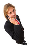 Handsome businessman on the mobile phone Royalty Free Stock Image