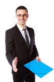 Handsome businessman offering handshake Royalty Free Stock Image