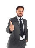 Handsome businessman OK Royalty Free Stock Photos