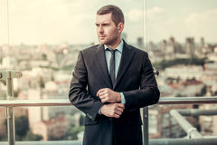 Handsome businessman outdoors Royalty Free Stock Photo
