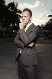 Handsome businessman outside Royalty Free Stock Photo