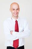 Handsome businessman over grey background Stock Photo