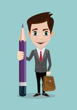 Handsome businessman with pencil . Stock Photography