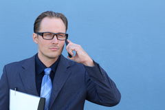 Handsome businessman on the phone Royalty Free Stock Photos