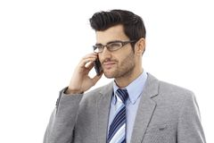 Handsome businessman on phone call Stock Photo