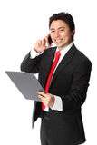 Handsome businessman with phone Stock Photo