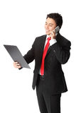Handsome businessman with phone Royalty Free Stock Photography