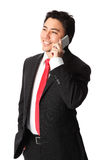 Handsome businessman with phone Royalty Free Stock Images