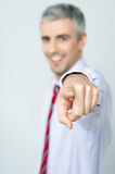 Handsome businessman pointing at you Stock Photography