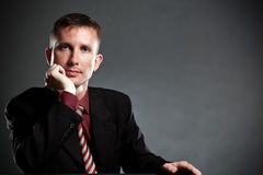 Handsome businessman portrait Royalty Free Stock Photos