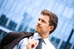 Handsome businessman portrait Stock Photos