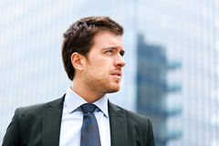 Handsome businessman portrait Stock Photo