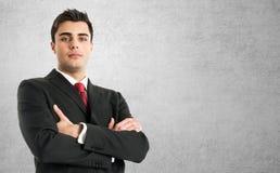 Handsome businessman portrait royalty free stock image