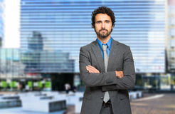Handsome businessman portrait Stock Image