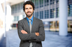 Handsome businessman portrait Stock Photography