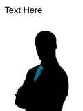 Handsome businessman posing Stock Image