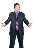 Handsome businessman showing hand sign Royalty Free Stock Photo