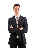 Handsome businessman smiling Stock Photography